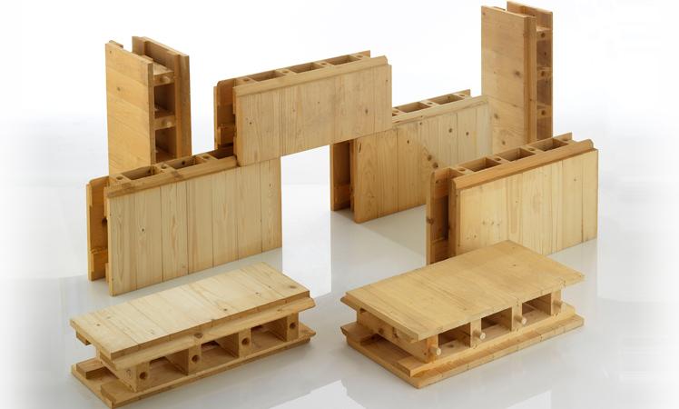 mattoni di legno ad incastro terminali antivento per